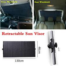 Retractable Front Rear Windshield Sunshade Shade For Car Cover Visor UV Shield