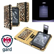 LEOPARD PRINT PU LEATHER CASE COVER + READING LIGHT FOR KINDLE 8 Gen. (2016)