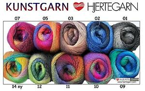 100g KUNSTGARN Sockenwolle 4fach Wolle FARBVERLAUF LACE TÜCHER GRADIENT Wollgarn