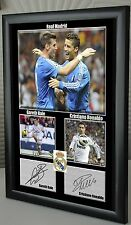 "Cristiano Ronaldo Gareth Bale Real Madrid Framed Canvas Print Signed ""Great Gift"