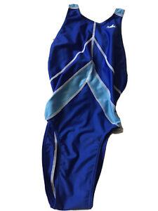 Women's Swimsuit Shiny Leotard Racing Back