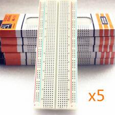5*MB-102 MB102 Breadboard 830 Point Solderless PCB Bread Board Test Develop DIY
