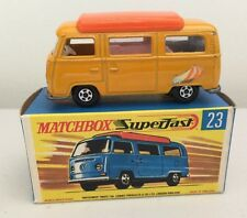 "MATCHBOX LESNEY 1970 SUPERFAST #23 ""VOLKSWAGON CAMPER"" with box -  mint  c"