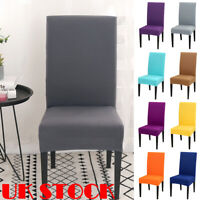Dining Chair Covers Removable Slipcovers Stretch Wedding Banquet Decor UK STOCK