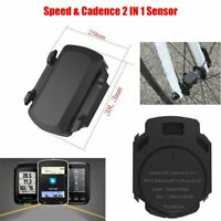 Bike Wireless Speed & Cadence Sensor Dual Band ANT+ Bluetooth For Garmin Bryton