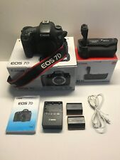 Canon EOS 7D 18.0 MP Digital SLR Camera, Body Only, Battery Grip, Accessories