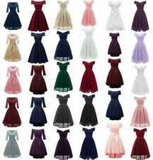 Women Formal Wedding Bridesmaid Evening Party Prom Ball Gown Dress Lot