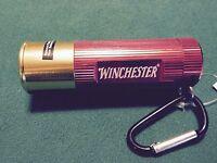Winchester Aluminum Shotgun Shell 9 LED Flashlight w/Carabiner Clip  NEW!