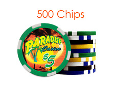 500 Custom Personalized Poker Chips : Both sides printed in Full Color