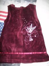 robe en velours fee clochette de taille 2 ans