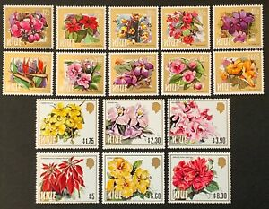 NIUE. Flowers Set. SG527/42. 1984. MNH. Protected in Hawids. (LC65)