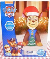NIB! PAW PATROL 4.5 ft Airblown CHASE Light Up Inflatable Christmas Yard Decor