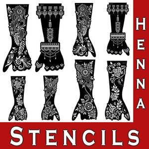 Mehndi Henna Hand Leg Stencils Mandala Flowers Lace Temporary Tattoo Template