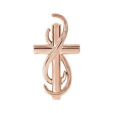 14k Rose Gold Infinity Cross Slide Pendant, 15mm