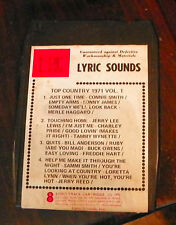 Top Coutnry 1971  Vol 1  8 Track Cartridge Tape (RP)