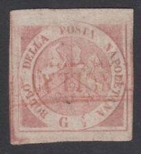 Napoli - 1858 Timbrino asinelli, annullo in rosso, ottimi margini - lotto 47