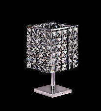 Modern Crystal Table Lamp Bedside Light Chrome Bedroom Office Lamp Hx38cm