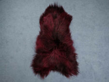 ICELANDIC SHEEPSKIN RUG DYED Burgundy 110-120 cm