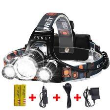 LED Headlamp 8000 Lumen Flashlight 4-Modes Post Lights Waterproof Hard Hat Light