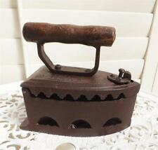 CAST IRON DOOR STOP*ANTIQUE STYLE COAL IRON CLOTHES PRESS WOODEN HANDLE NEW