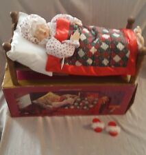Vintage CHRISTMAS Animated Sleeping Mrs Santa Claus With Sound Bed