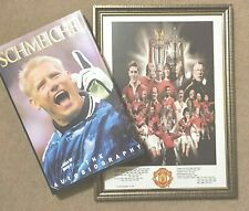 Peter Schmeichel Manchester United SIGNED Autograph BooK + COA + Frame