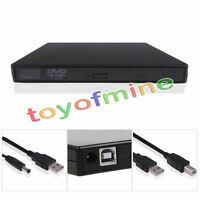 DVD ROM externa Reader jugador Combo CD-RW quemador Drive para PC USB 2.0