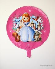 """Sofia The First pink round foil balloon 18""""(45cm) birthday party decoration AU"""