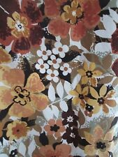 BEAUTIFUL VINTAGE FLORAL PATTERN SANDERSON CURTAINS LATE 70s PAIR
