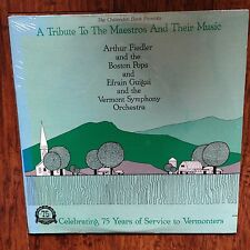 A TRIBUTE TO THE MAESTROS AND THEIR MUSIC BOSTON POPS VERMONT SYMPHONY SEALED