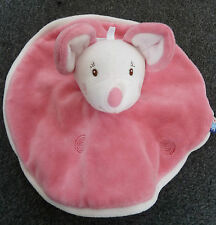 Sucre D'Orge Doudou Pink Mouse Circular Comfort Blanket/Blankie Toy