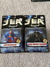 1999 HASBRO JLA JUSTICE LEAGUE OF AMERICA SUPERMAN AND DARK KNIGHT BATMAN