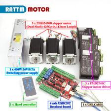 USB CNC Controller Kit 3 Axis Nema23 Stepper Motor 425oz.in&Driver&Power supply