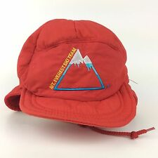 Mount Everest Ski Team Winter Hat Cap With Ear Flaps Red Color Youth Size