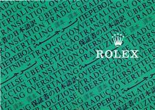 *ROLEX : Libretto attestazione di garanzia e certificato di cronometro ufficiale