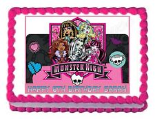 MONSTER HIGH edible party cake topper cake image frosting sheet