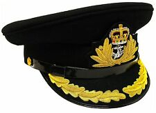 ROYAL NAVY OFFICER HAT CAP CAPTAIN ( BLACK ) Size 60