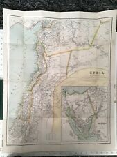 Original Old Vintage Map Of Palestine, Philips Authentic Maps, Rare, Atlas