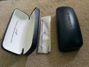 Lacoste Glasses  Case. Navy Blue Box. New