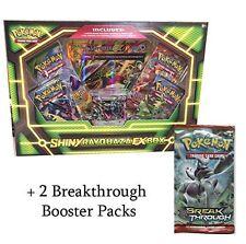 Pokemon TCG Shiny Rayquaza EX Box + 2 Pokemon XY8 Breakthrough Booster Packs - B