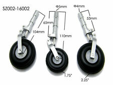 RC Airplane Alloy Undercarriage Anti-vibration Landing Gear w/ PU Plastic wheel