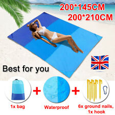 Extra Large Waterproof Picnic Blanket Travel Outdoor Beach Camping Soft Mat +Bag