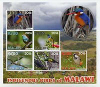 Malawi 2016 MNH Indigenous Birds 4v M/S Kingfishers Sunbirds Sparrows Stamps