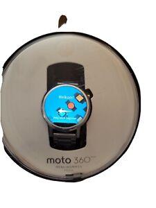 Motorola Moto 360 1st Gen 42mm Metal Case Silver Link Bracelet Smartwatch