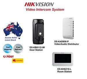 Hikvision Video Intercom System (DS-KB8112-IM / DS-KH6210-L / DS-KAD606-P)