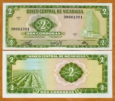Nicaragua, 2 cordobas, 1972, Pick 121 C-Serie, UNC