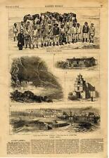 Ancient America  -  Canon de Chelle  -  Pueblo Village  -   1876