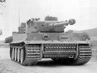 WW2 B&W Photo German Tiger Tank in Action, Early  WWII Tiger 1 World War Two