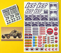 RC Vintage style 'BEL-RAY BULLET'  Decals stickers Rough Rider BAJA Scorcher