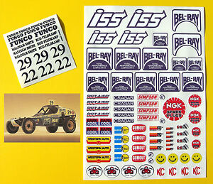 RC Vintage retro 'BEL-RAY BULLET'  Decals stickers Rough Rider BAJA Scorcher